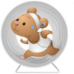 95768-Sweaty-Hamster-Running-In-An-Exercise-Wheel-And-Listening-To-Music-Poster-Art-Print