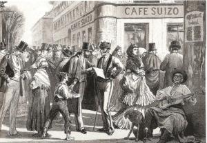 CAFE SUIZO grabado s XIX revista the news