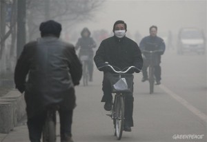 Man Wearing Mask - Linfen Pollution Documentation (Linfen, China: 2007)