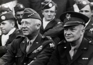 Generals Patton and Eisenhower