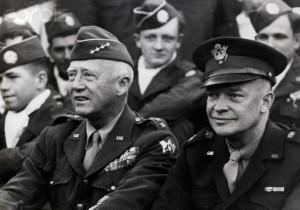 Generals Patton and Eisenhower