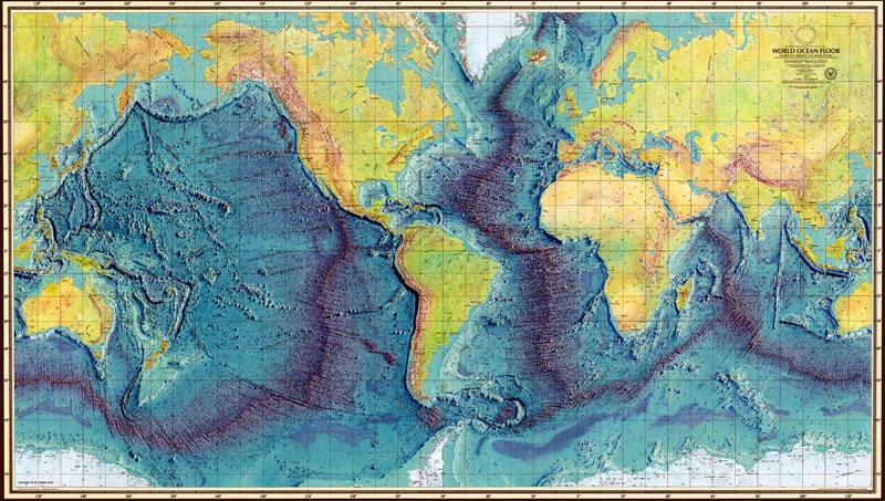 Mapa del fondo oceanico